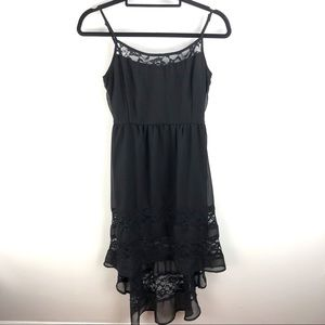 🦃 Band of Gypsies Black High Low Lace Dress M